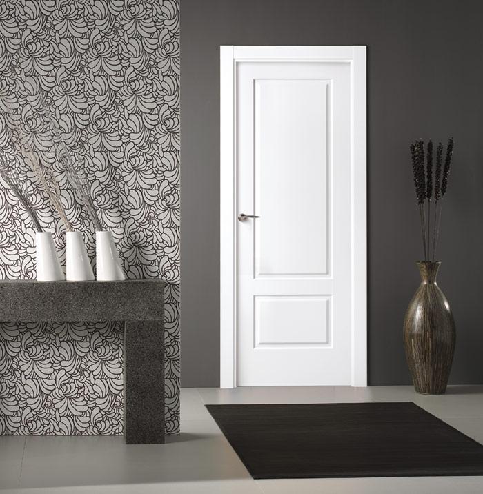 Puertas lacadas en blanco artideco for Puertas dm lacadas en blanco