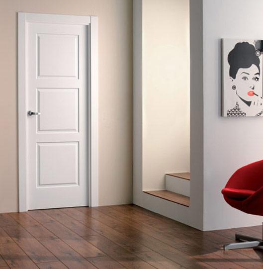 Puertas lacadas en blanco artideco for Precio puertas macizas lacadas en blanco