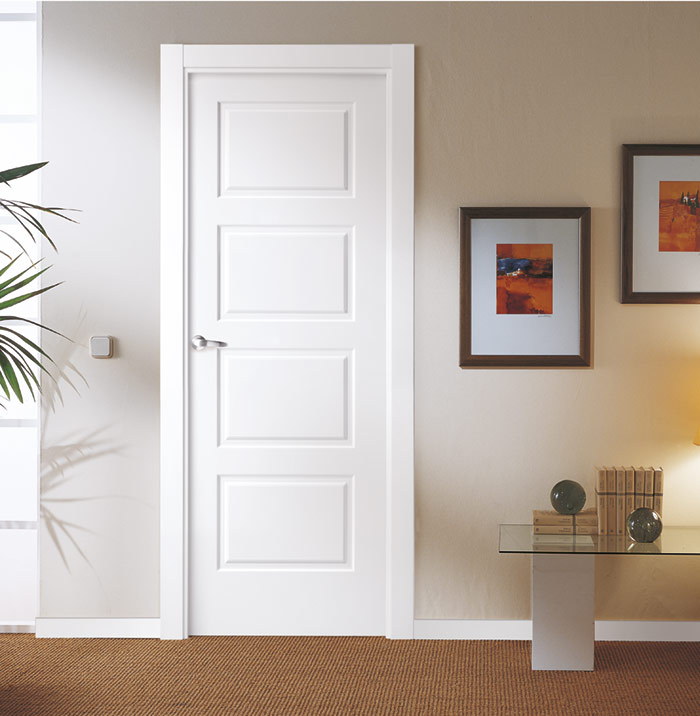 Puertas lacadas en blanco artideco - Puertas interior blancas ...